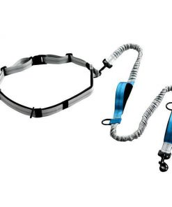 Dog Leash For Running with Retractable Hand Free Stunning Pets Blue as picture