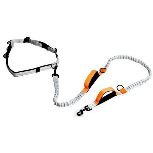 Dog Leash For Running with Retractable Hand Free Stunning Pets Carrot as picture
