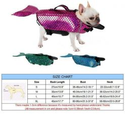 Dog Life Vest Mermaid Style | Small/Medium/Large/XLarge Stunning Pets