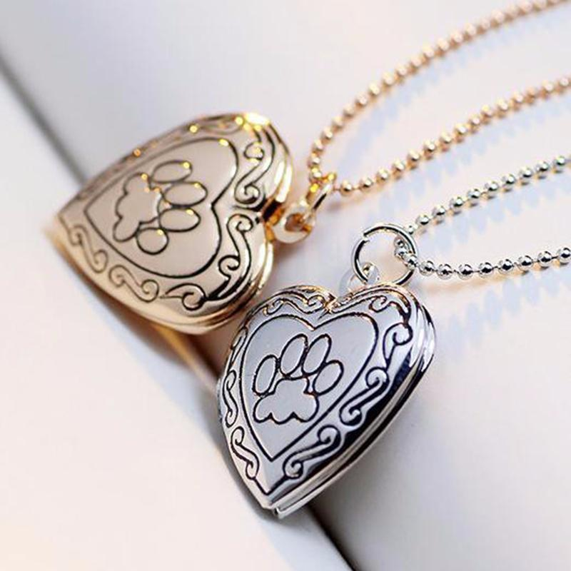 Dog Paw Print Necklace Is A Unique Pet Memorial Gift Memorial Necklace GlamorousDogs