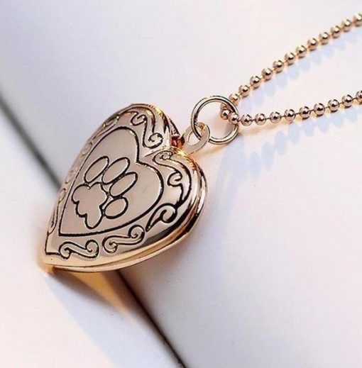 Dog Paw Print Necklace Is A Unique Pet Memorial Gift Memorial Necklace GlamorousDogs gold