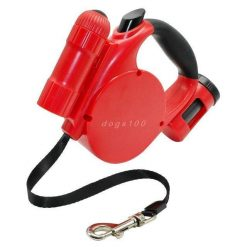 Dog Retractable Leash LED Light Stunning Pets Red 4.5M