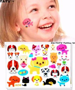 Dogs Child Temporary Tattoos Stunning Pets