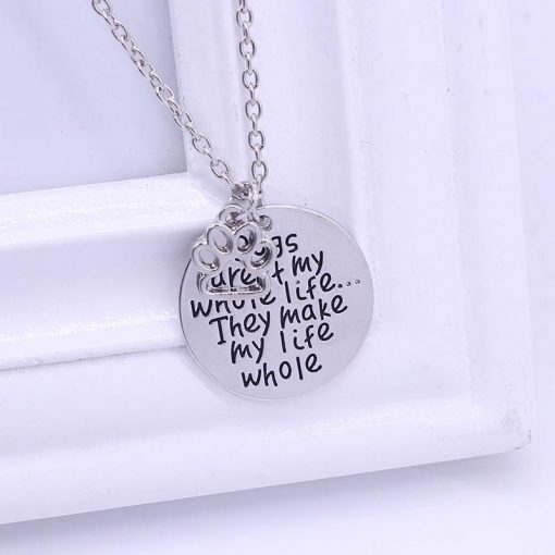 DOGS MAKE MY LIFE WHOLE NECKLACE | Best gift for dog lovers | Free Shipping July Test GlamorousDogs