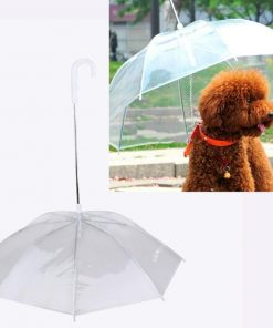Dog Umbrella with Leash Provides Protection from Rain Snow Wet Weather Stunning Pets