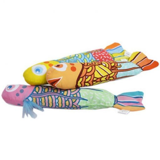 Durable Canvas and Colorful Small Fish Pillow Stunning Pets