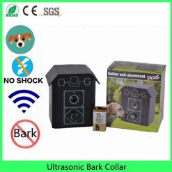 Durable weatherproof outdoor Ultrasonic Bark collar Stop Anti-bark house dog training system including Battery High Ticket Stunning Pets
