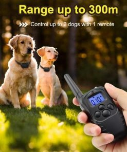 Electric Shock Vibration Rechargeable Rainproof Collar With LCD Display Stunning Pets