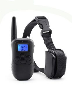 Electric Shock Vibration Rechargeable Rainproof Collar With LCD Display Stunning Pets US