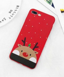 Elk Case For iPhone 7, 7 Plus, 8, 8 Plus 6 6s Plus Stunning Pets Merry Christmas Case 2 For iPhone 6 6s