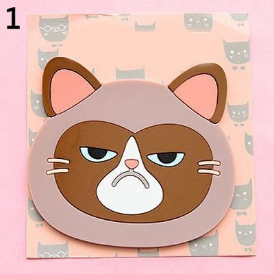 Emotional Cat Face Coasters – Pack of 6 Stunning Pets 1