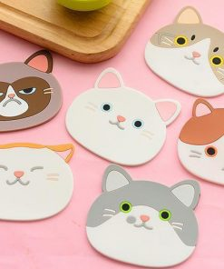 Emotional Cat Face Coasters – Pack of 6 Stunning Pets