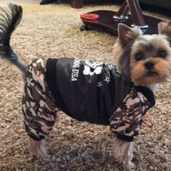 Fashion Waterproof dog Costume Best quality for small dogs Stunning Pets Black S