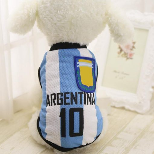 FIFA World Cup Russia 2018 EXCLUSIVE Doggo Tees Stunning Pets Argentina XS