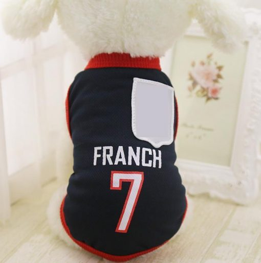 FIFA World Cup Russia 2018 EXCLUSIVE Doggo Tees Stunning Pets France XS