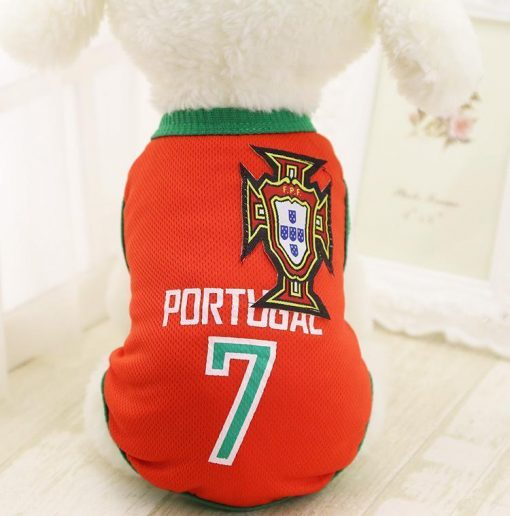 FIFA World Cup Russia 2018 EXCLUSIVE Doggo Tees Stunning Pets Portugal XS