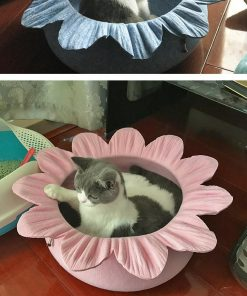 Flower-shaped Cat Bed Nest | Best Gift for Cat Owners July Test ATC GlamorousDogs
