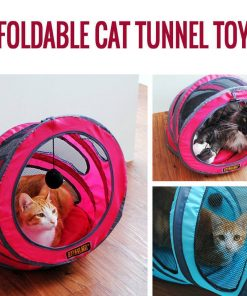 Fold-able Cat Tunnel Toy Stunning Pets