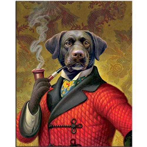 Funny Art Paintings Home accessories Stunning Pets Red Poor round 10x15
