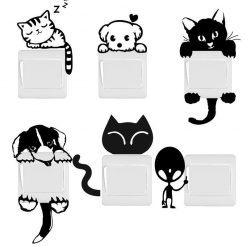 Funny Cute Cat/Dog Switch Stickers for Home Decoration Home accessories Stunning Pets