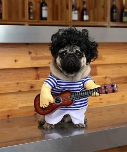 Funny Guitar Player Cosplay Costume Stunning Pets