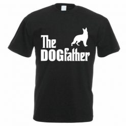 Funny Printed T-shirt: The Dogfather T-shirt | Free Shipping Stunning Pets Black S