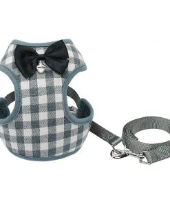 Gentleman's Deluxe Tuxedo For A Dog Harness & Leash Classic Harness GlamorousDogs Gray S
