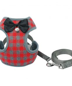 Gentleman's Deluxe Tuxedo For A Dog Harness & Leash Classic Harness GlamorousDogs Red S