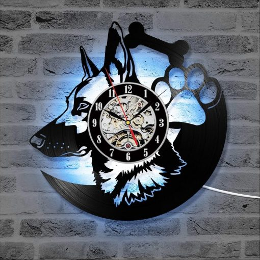 German Shepherd Dog LED Clock Glamorous Dogs