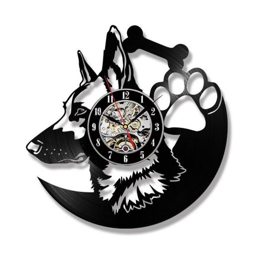 German Shepherd Dog LED Clock Glamorous Dogs Without LED
