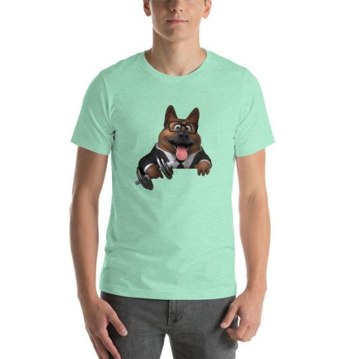 German Shepherd Gym Lovers (Male) GlamorousDogs Heather Mint S