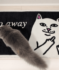 Go Away Cat Doormat Cat Doormat GlamorousDogs