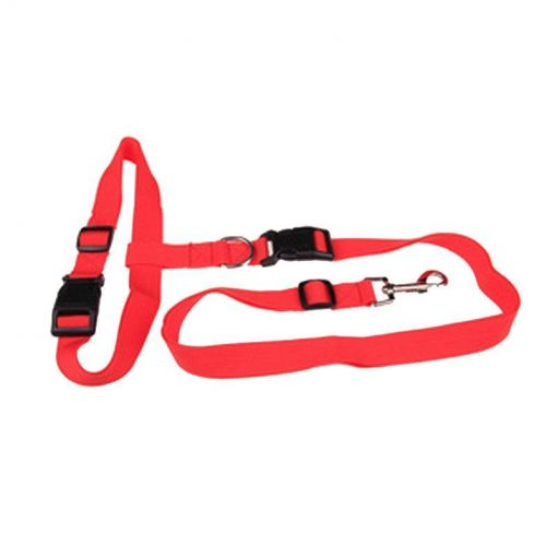 Hands-Free Dog Leash Running leash GlamorousDogs Red