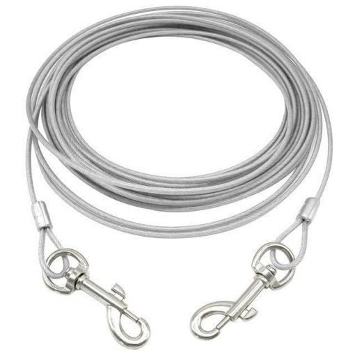 Heavy Helicopter Extra-Large Cable for dogs up to 125 pounds Essentials Stunning Pets White 10M