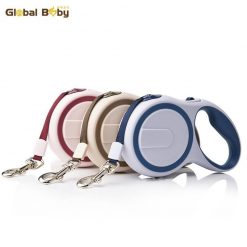 High-Grade Stable Durable Automatic Retractable Dog Traction Rope Stunning Pets Apricot 3 Meter