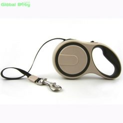 High-Grade Stable Durable Automatic Retractable Dog Traction Rope Stunning Pets Apricot 5 Meter