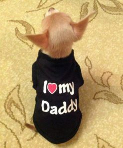 I Love Mommy/Daddy Soft Cotton Cat/Puppy Vest Outfit Stunning Pets