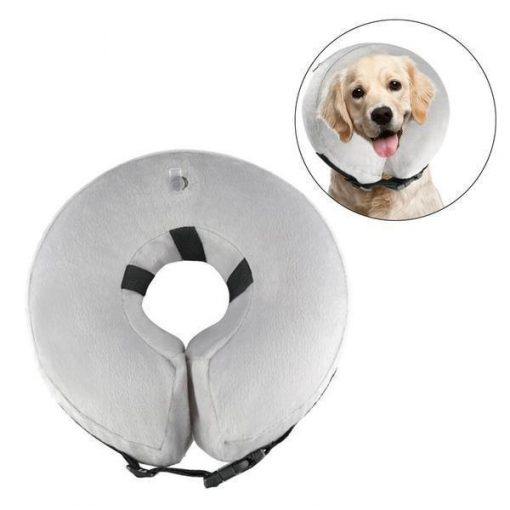 INFLATABLECOLLAR ™: The Cone to Help Dogs Heal Faster Without Limiting Them Stunning Pets L White