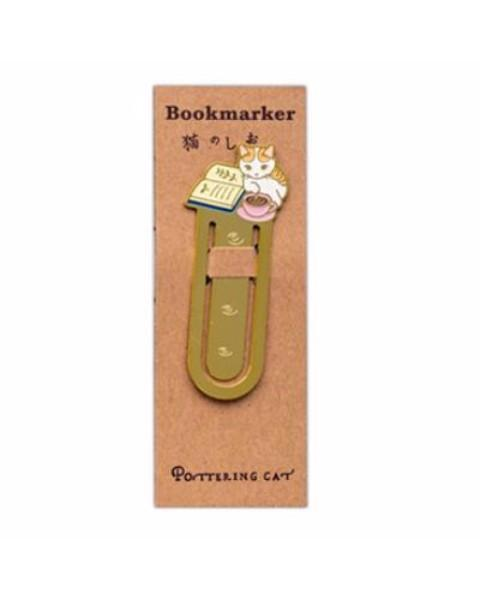 Kitty Metal Bookmark Clip Stunning Pets Lazy cat