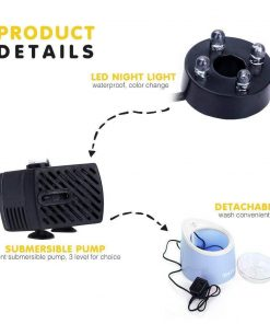 LED Pet Water Fountain | AMAZING AUTOMATED FRESH WATER FOR YOUR PET. For Cats ROI test GlamorousDogs