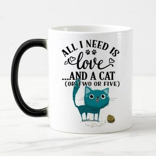 Magical Color Changing Cat Mug Stunning Pets magic mug 5 301-400ml