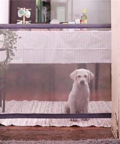 Magic Gate Portable Folding Safe Guard For Pets Indoor Training Stunning Pets 73x140 CM Grey
