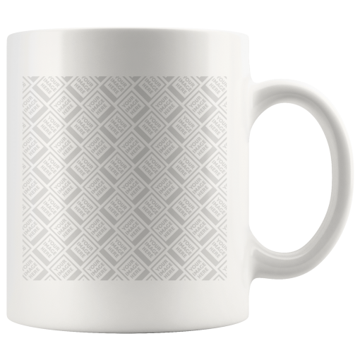 """Make a Mug with your Own Photo """"Personalized"""" Drinkware Template teelaunch Personalized 11oz Mug - White"""