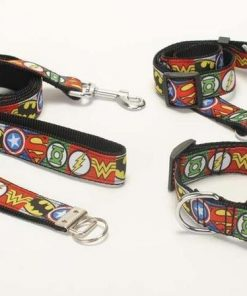 Marvel Avengers Comic Dog Supplies (collar/leash/ belt/key fob) + Free Shipping Stunning Pets 4 set set