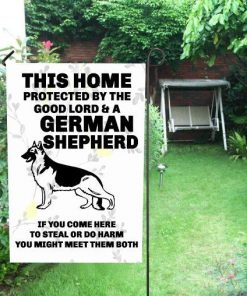 """Meet the Lord German Shepherd House Flag 28"""" x 40""""(Twin Sides) Glamorous Dogs"""