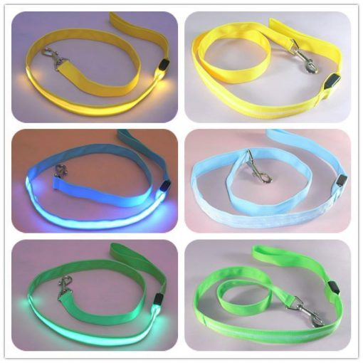multi color dog led leash Stunning Pets