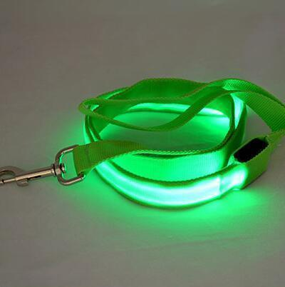multi color dog led leash Stunning Pets Green 25mm