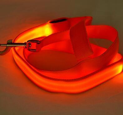 multi color dog led leash Stunning Pets Orange 25mm