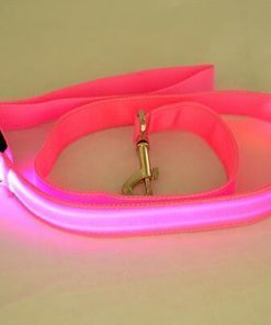 multi color dog led leash Stunning Pets Pink 25mm