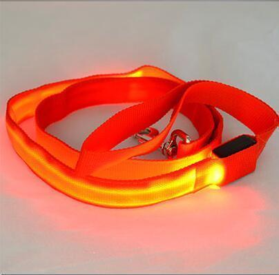 multi color dog led leash Stunning Pets Red 25mm